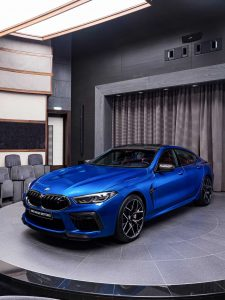 2020 BMW M8 Competition Gran Coupé in Sonic Speed Blue