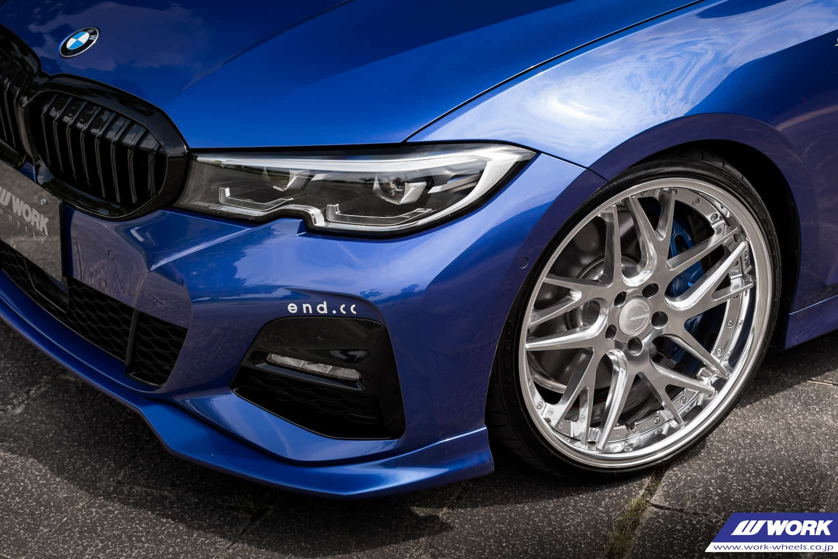 BMW 3 G20 With WORK Wheels And End.cc Aero Kit