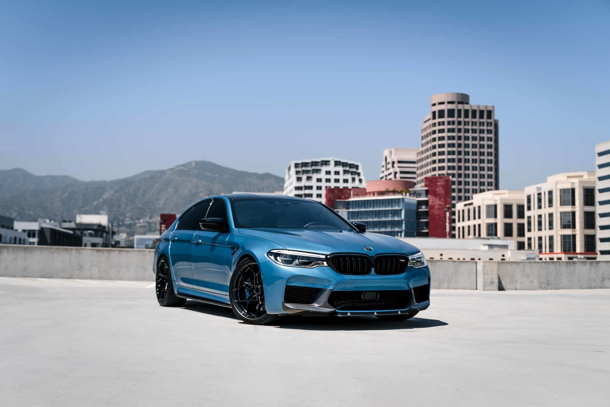 Snapper Rocks Blue Metallic Bmw M5 Competition On Bd Wheels Maxtuncars