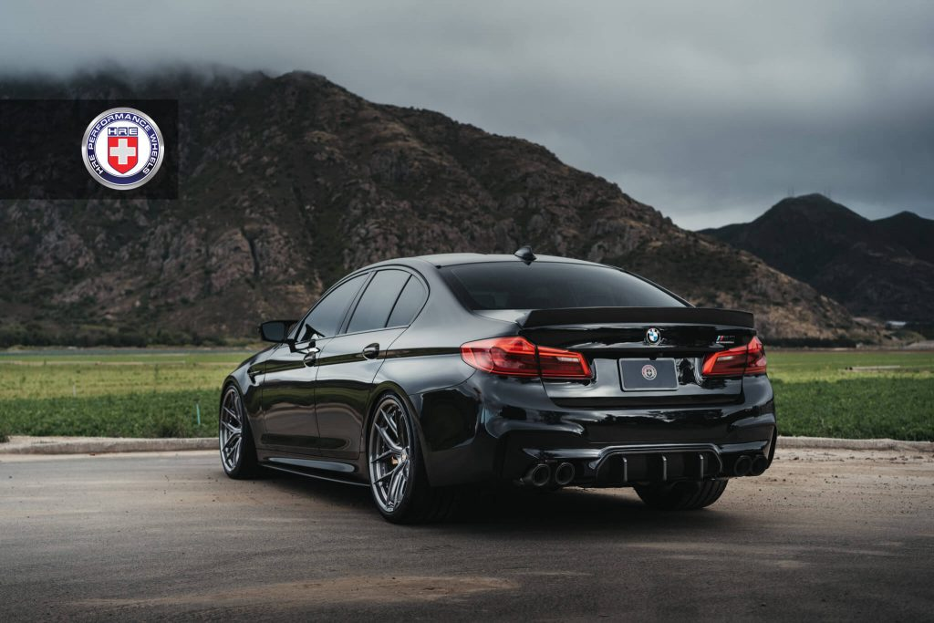 BMW M5 F90 With New HRE Wheels And Aero Parts