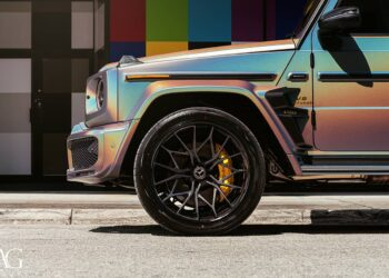 Brabus Mercedes G63 Crazy Psychedelic Chameleon Wrap & AG Luxury forged wheels