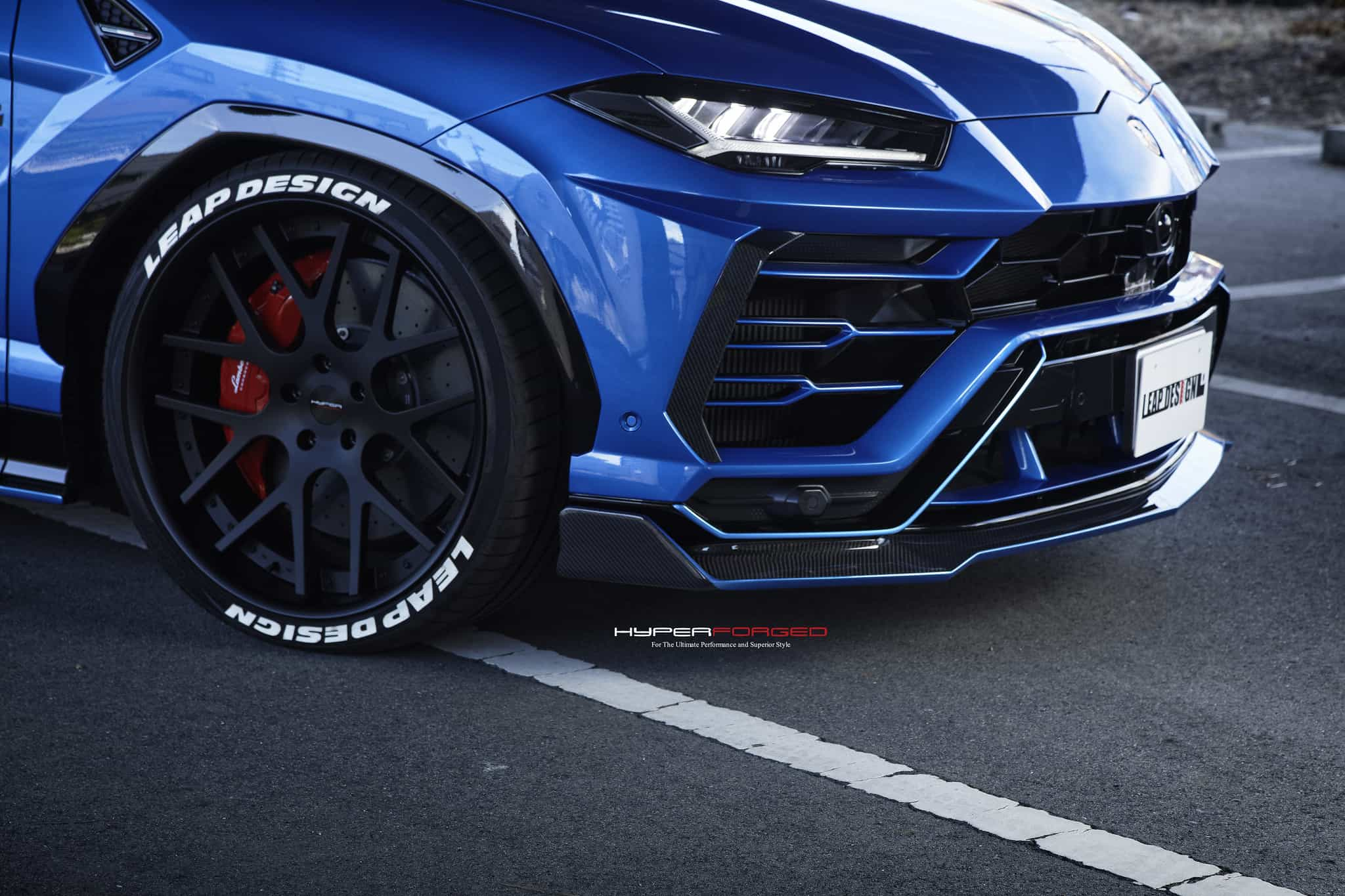 Lamborghini Urus with LEAP Design body kit and Hyper Forged Wheels