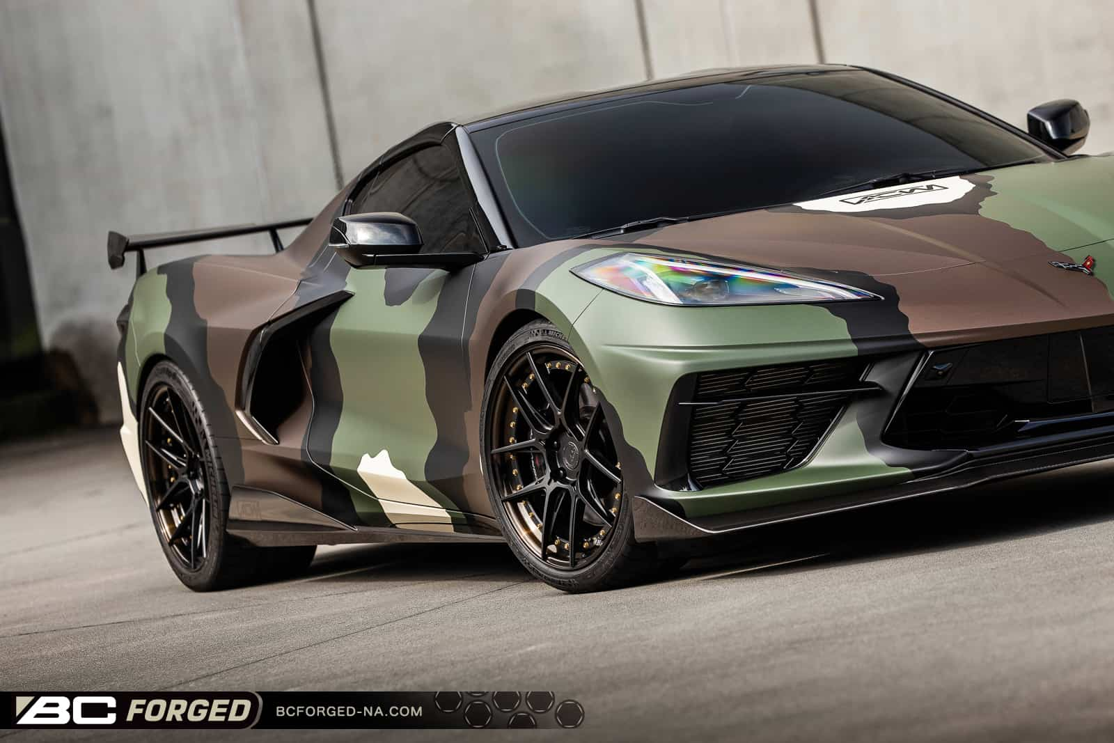 Military Chevrolet Corvette C8 on BC Forged Wheels