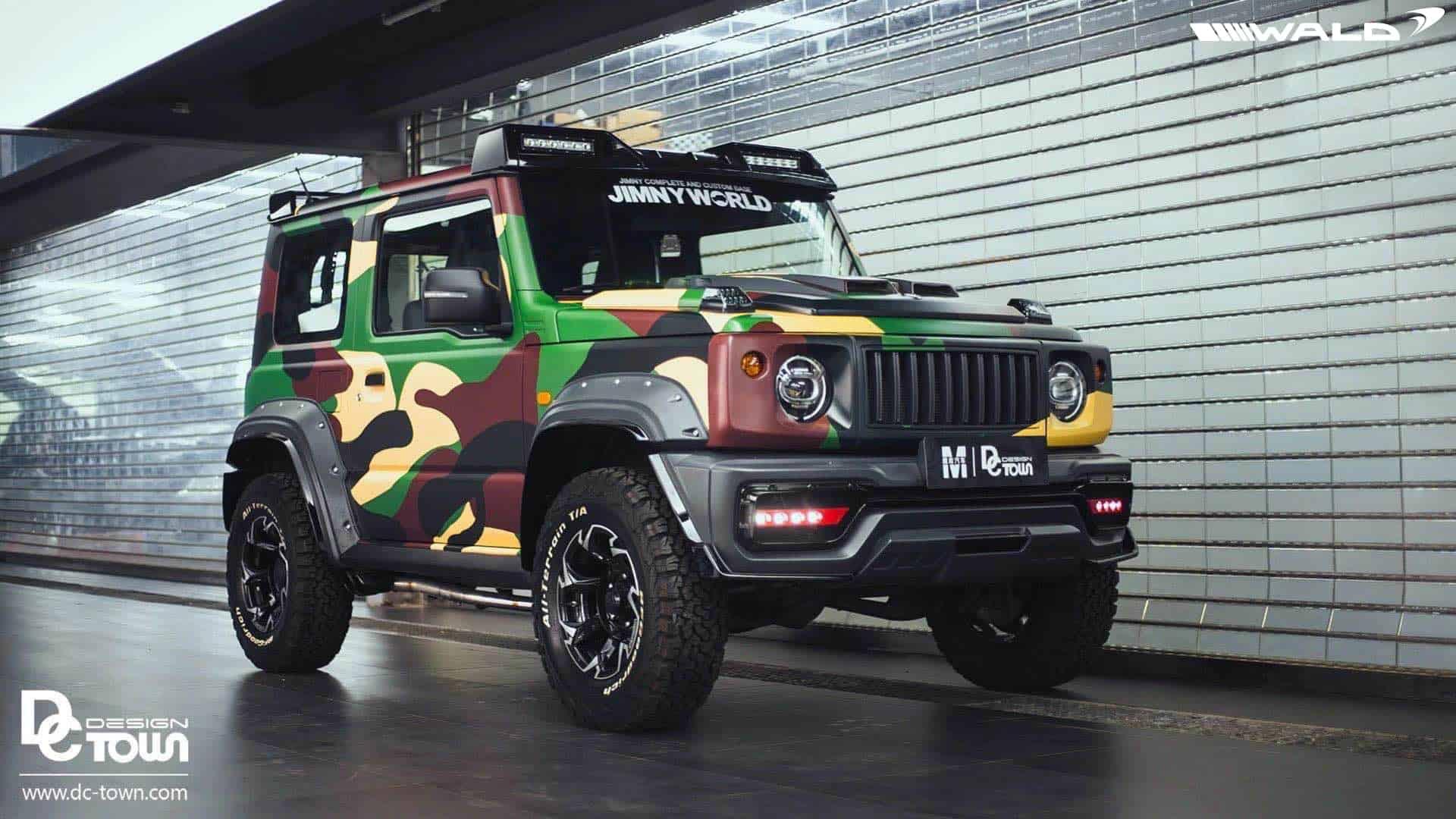 Suzuki Jimny Camo Wrap & WALD Body Kit