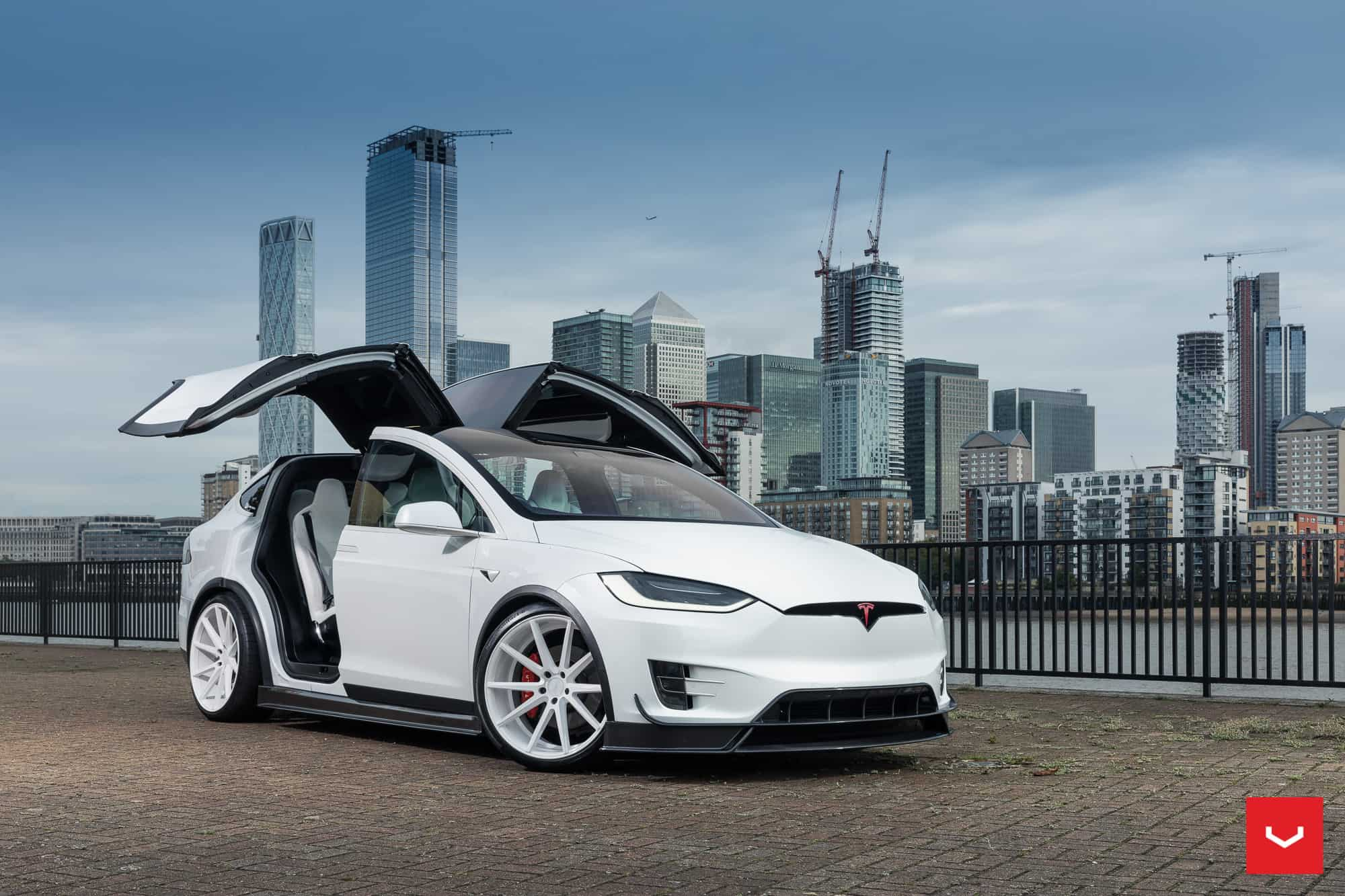 Tesla Model X Gets Vossen Wheels аnd RevoZport Aero Kit