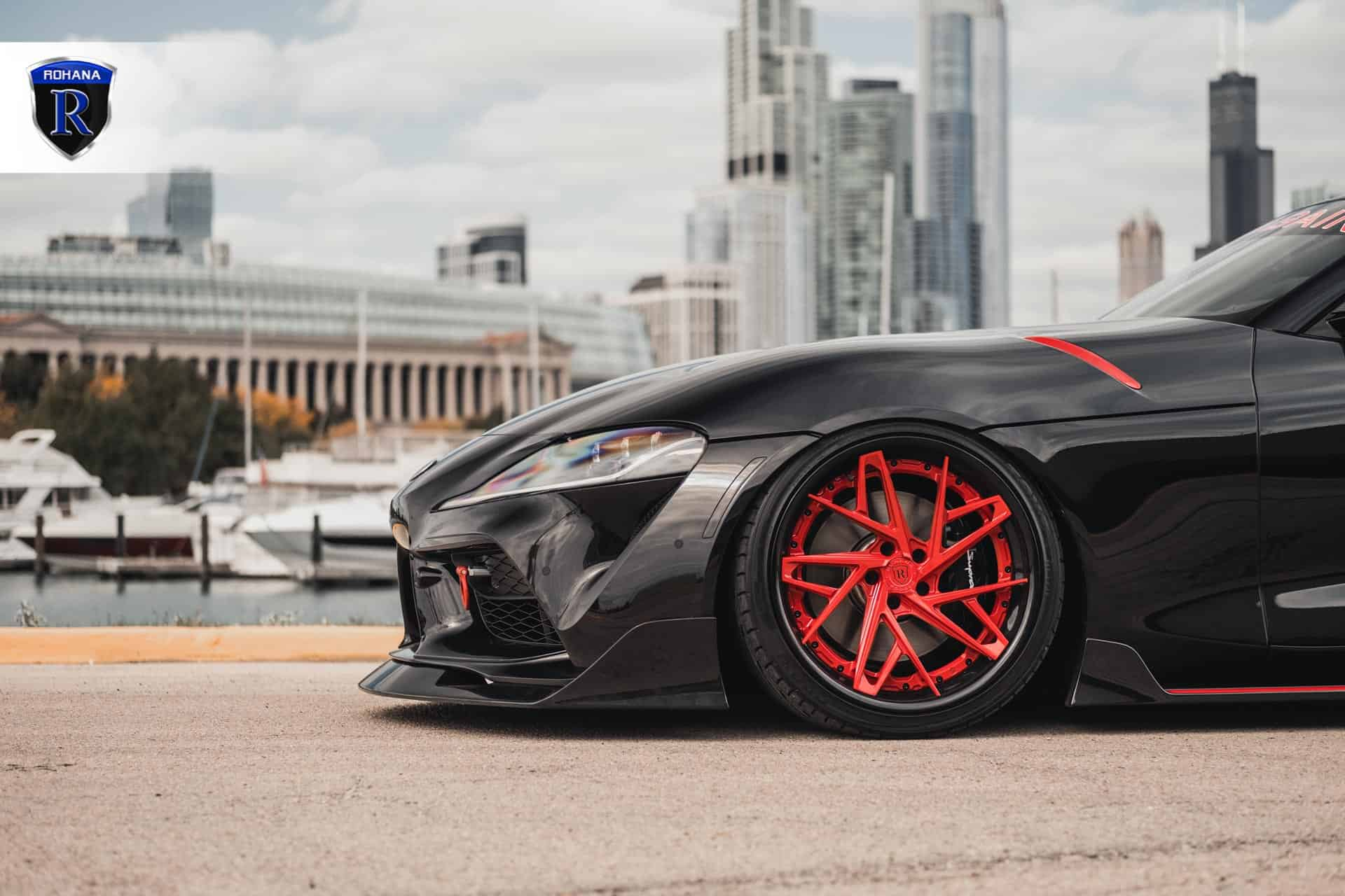 Toyota Supra Aimgain Body Kit & Rohana Wheels