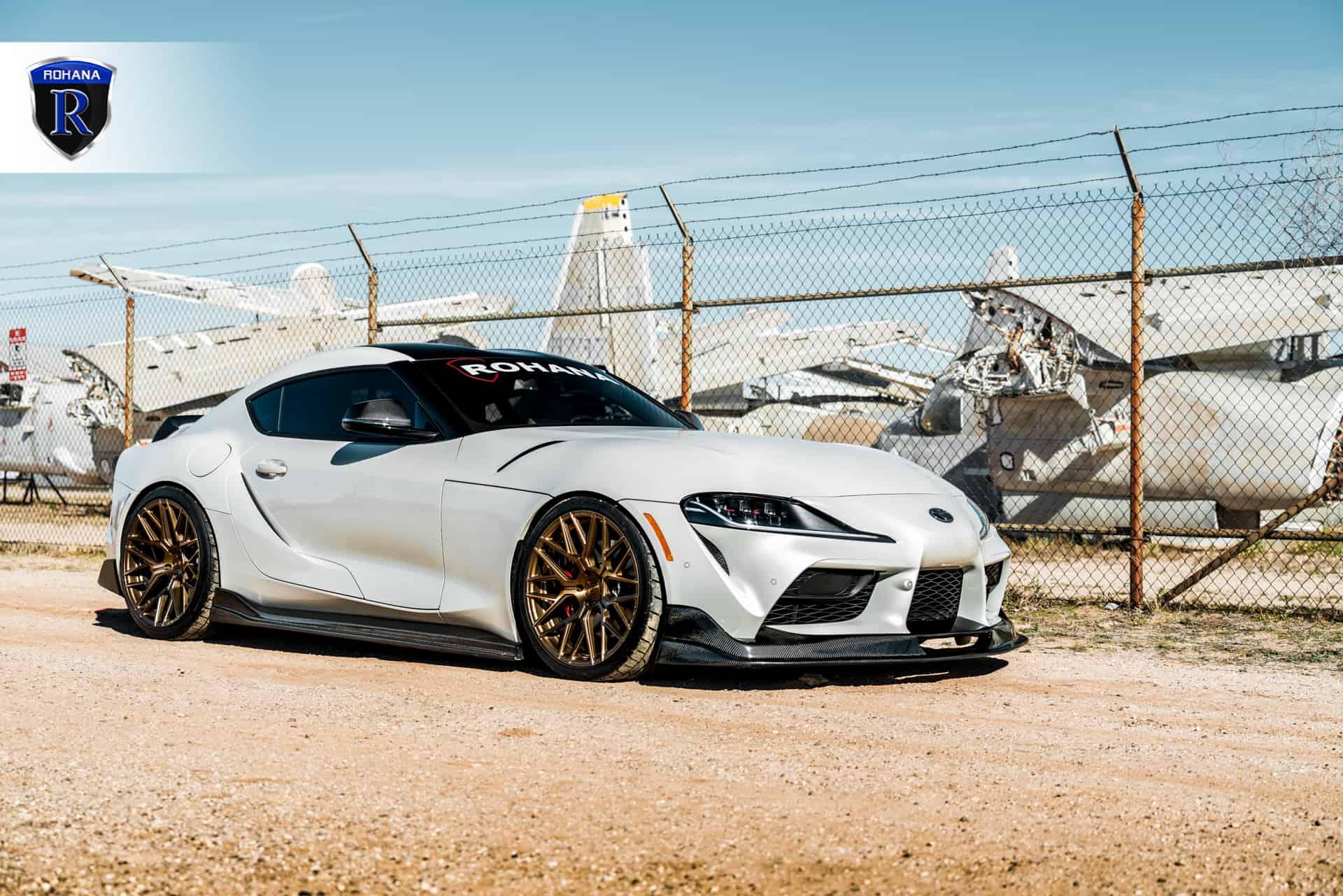 Toyota Supra with AutoTuned S1 lip kit and Rohana wheels